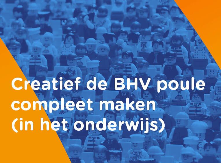 BHV organisatie onderwijs