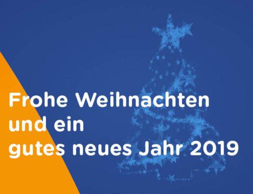 Frohe Weihnachten und ein gutes neues Jahr 2019!