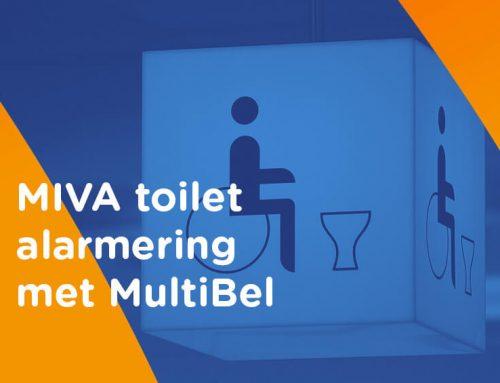 Toepassing MultiBel: MIVA toilet alarm